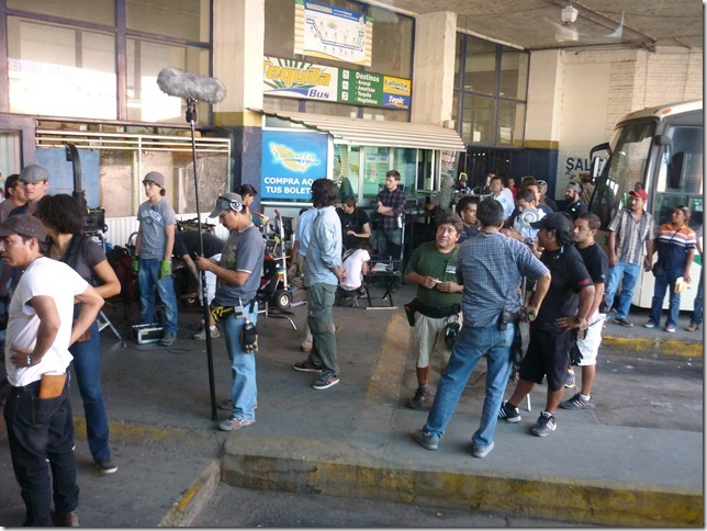 Mariachi Gringo filming