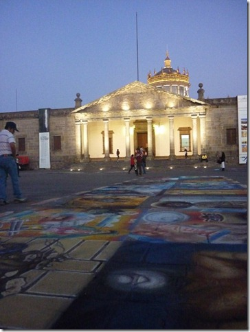 Sidewalk art in Guadalajara