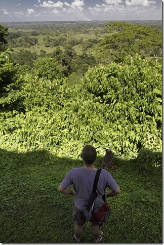 Looking out on the jungle from the Ruinas de Palenque