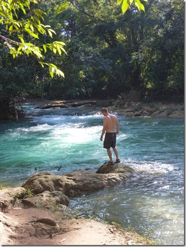 Swimming at Agua Azul