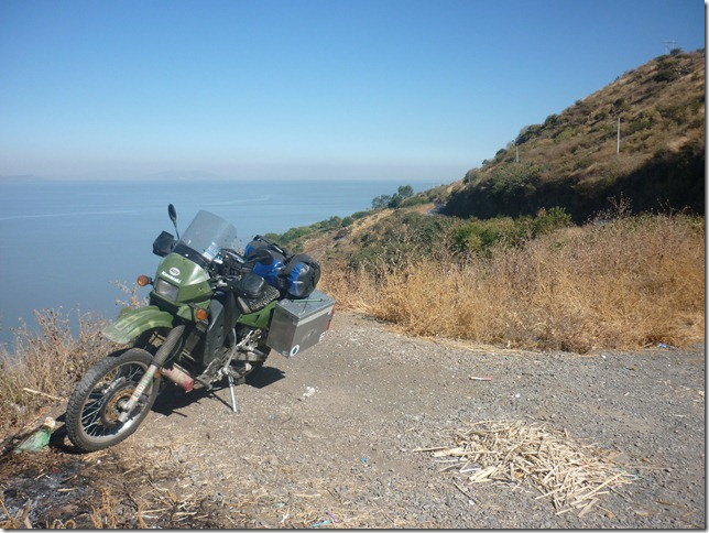 Riding around Lake Chapala, the largest lake in Mexico