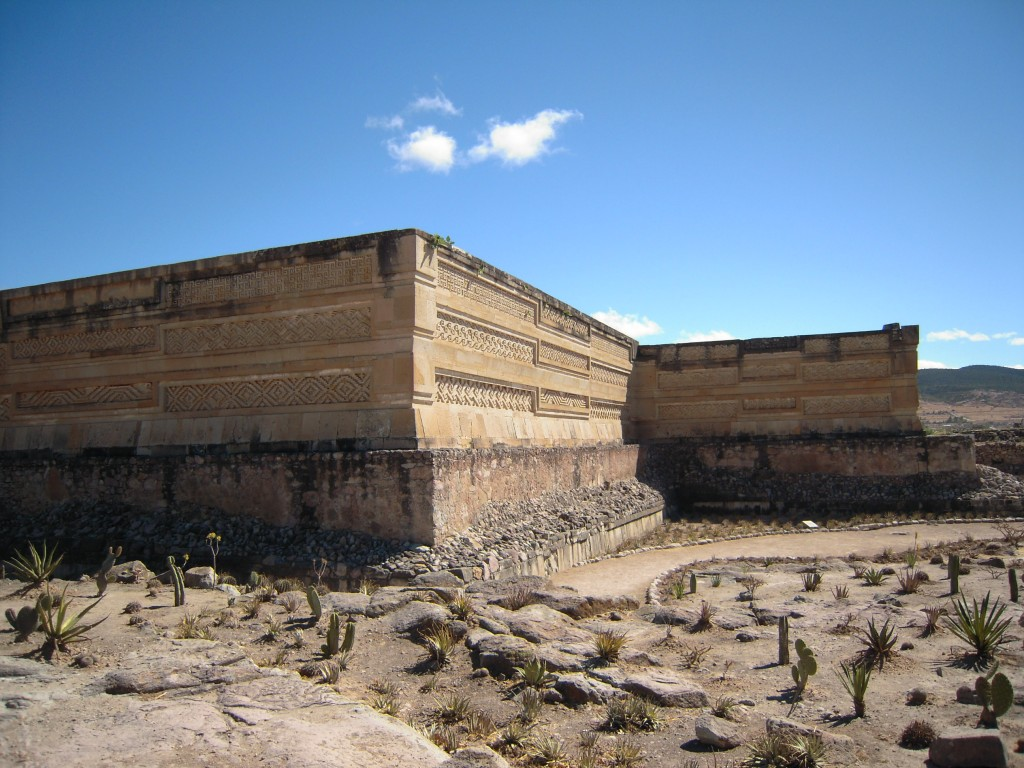 The ruins of Mitla
